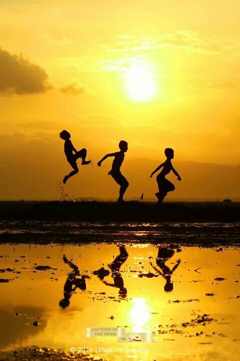 Kid Jumping Silhouette